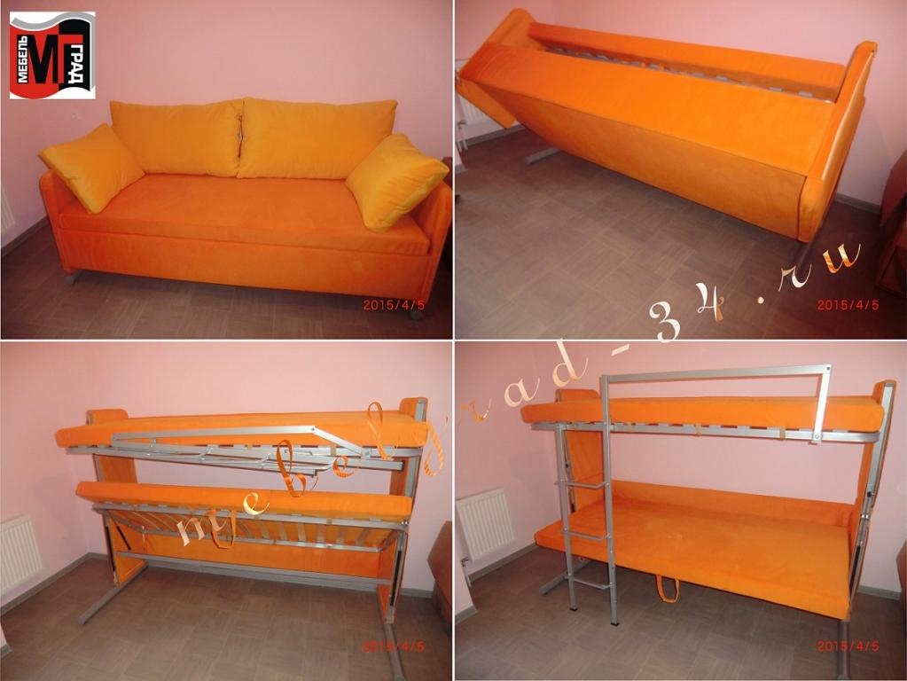 Детская двухъярусная кровать трансформер фото